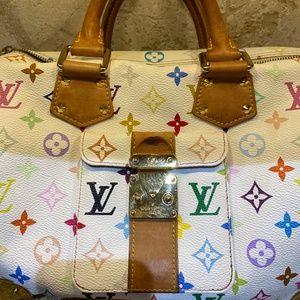 Louis Vuitton Speedy 30 Multicolor White